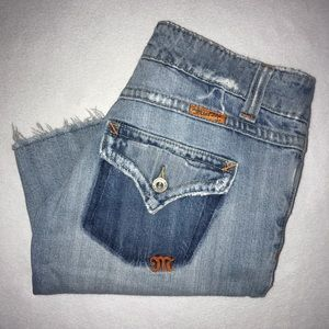 Miss Me Distressed Ripped Frayed Bermuda Shorts 26